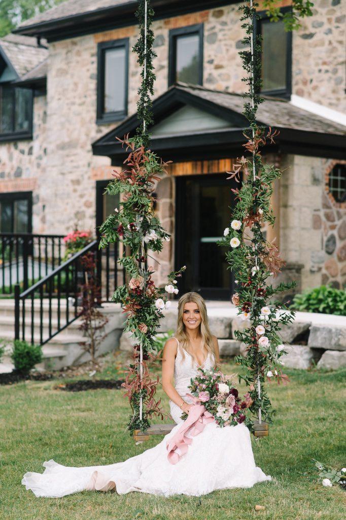 wedding swing flowers
