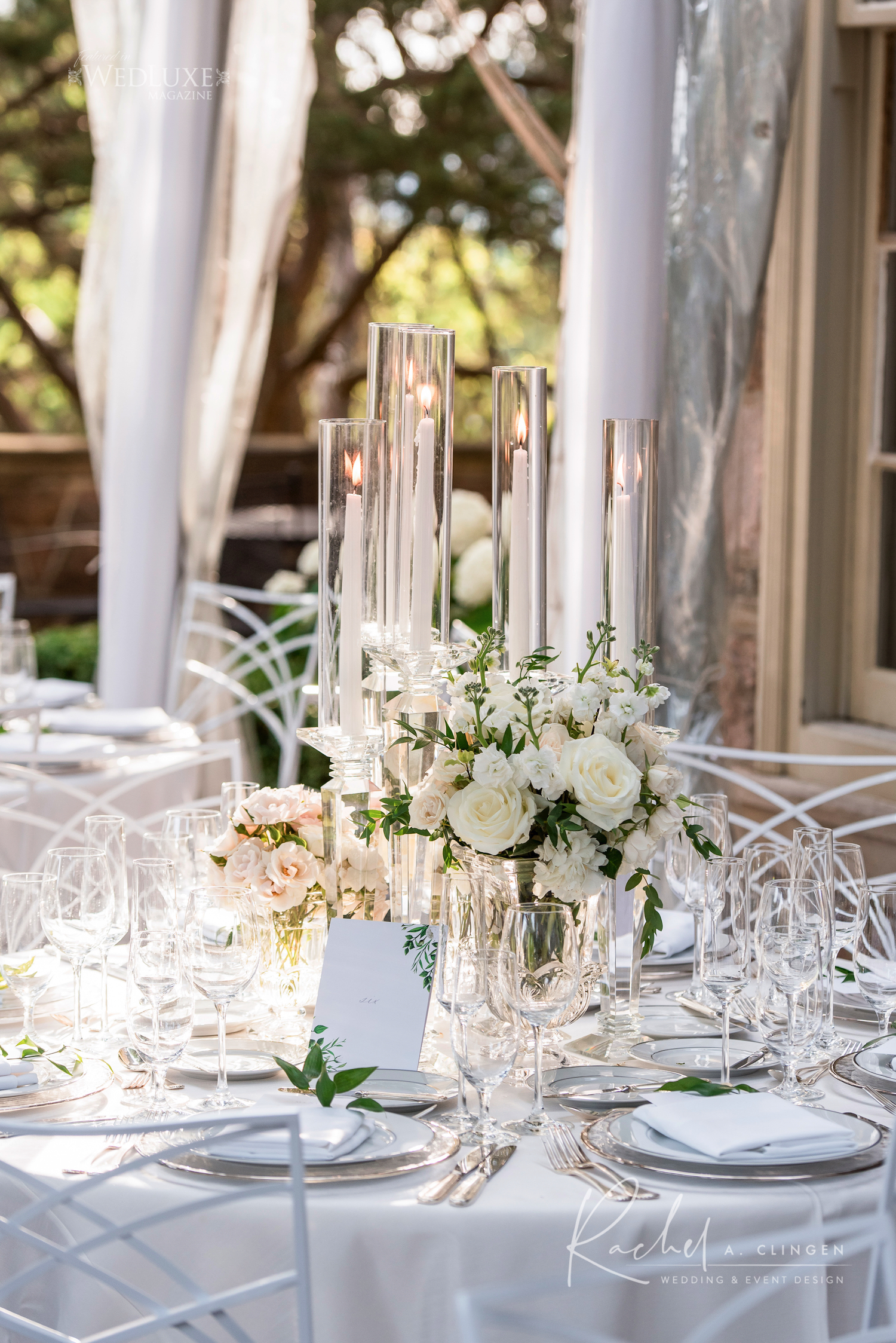 white green wedding centrepieces