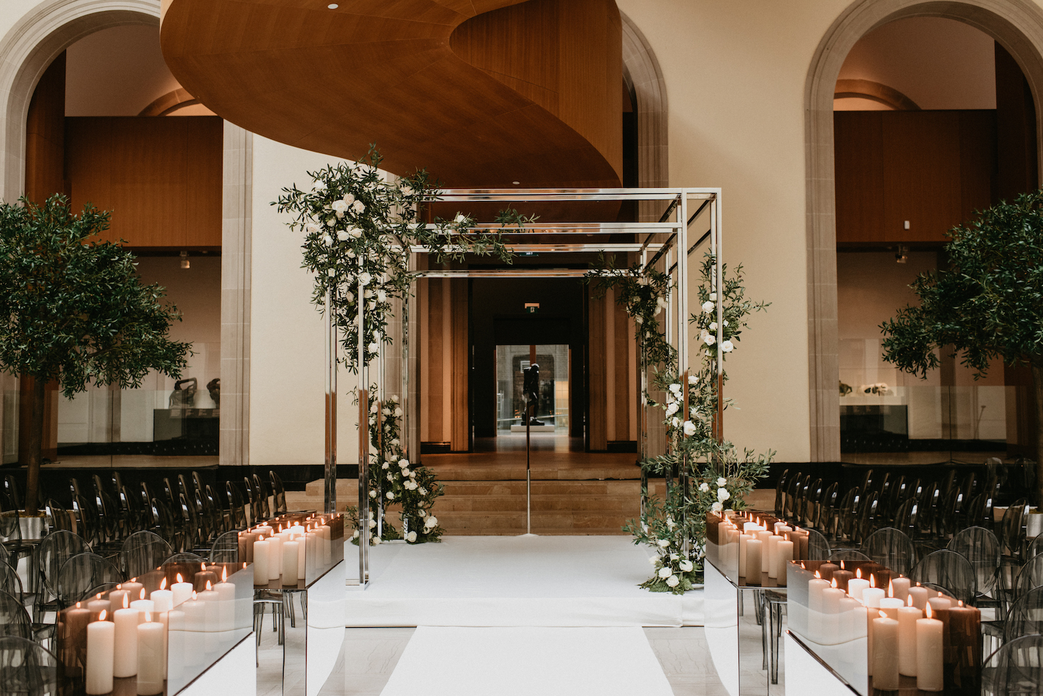 art gallery ontario wedding decor