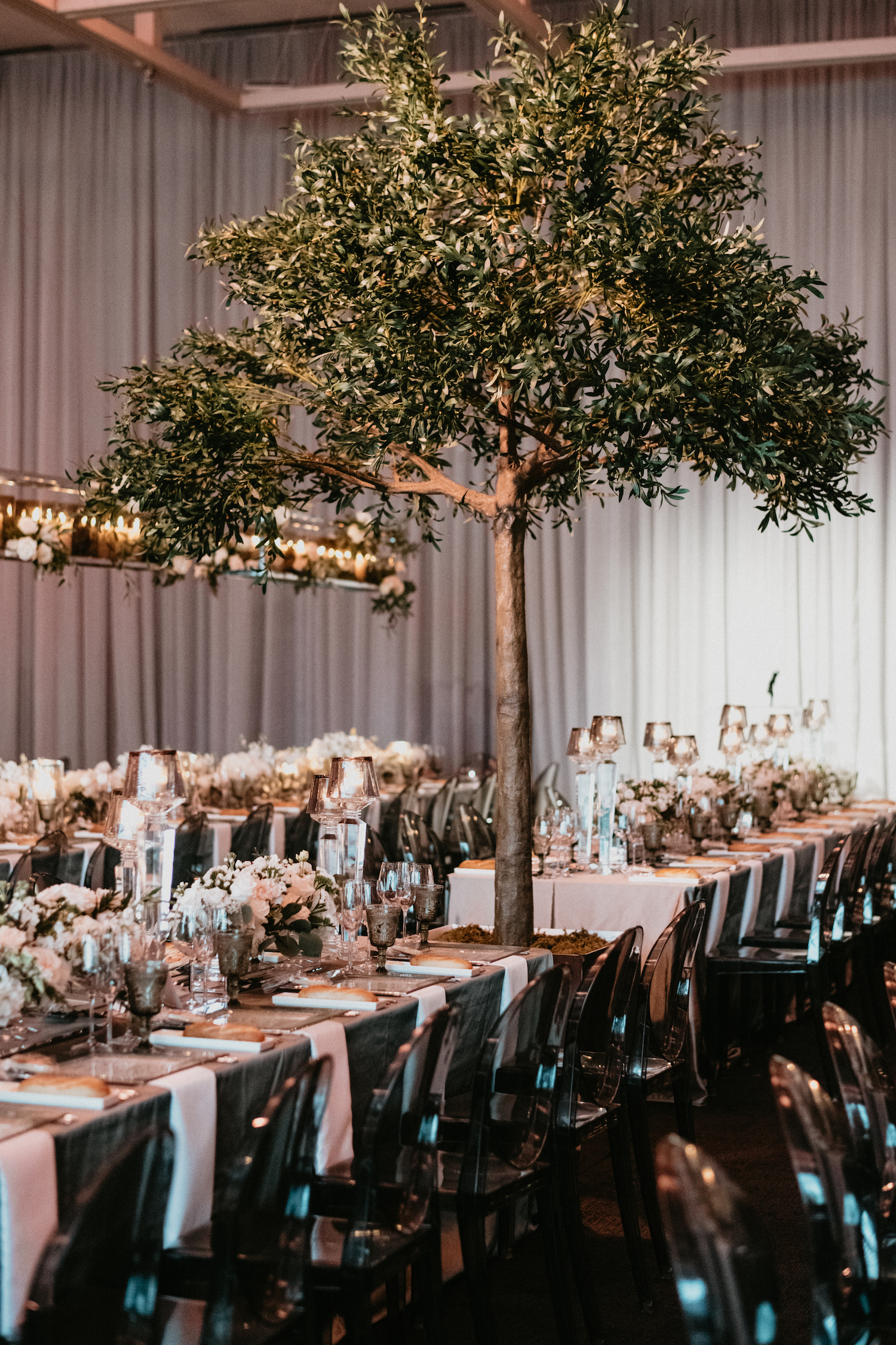 olive trees modern italian wedding