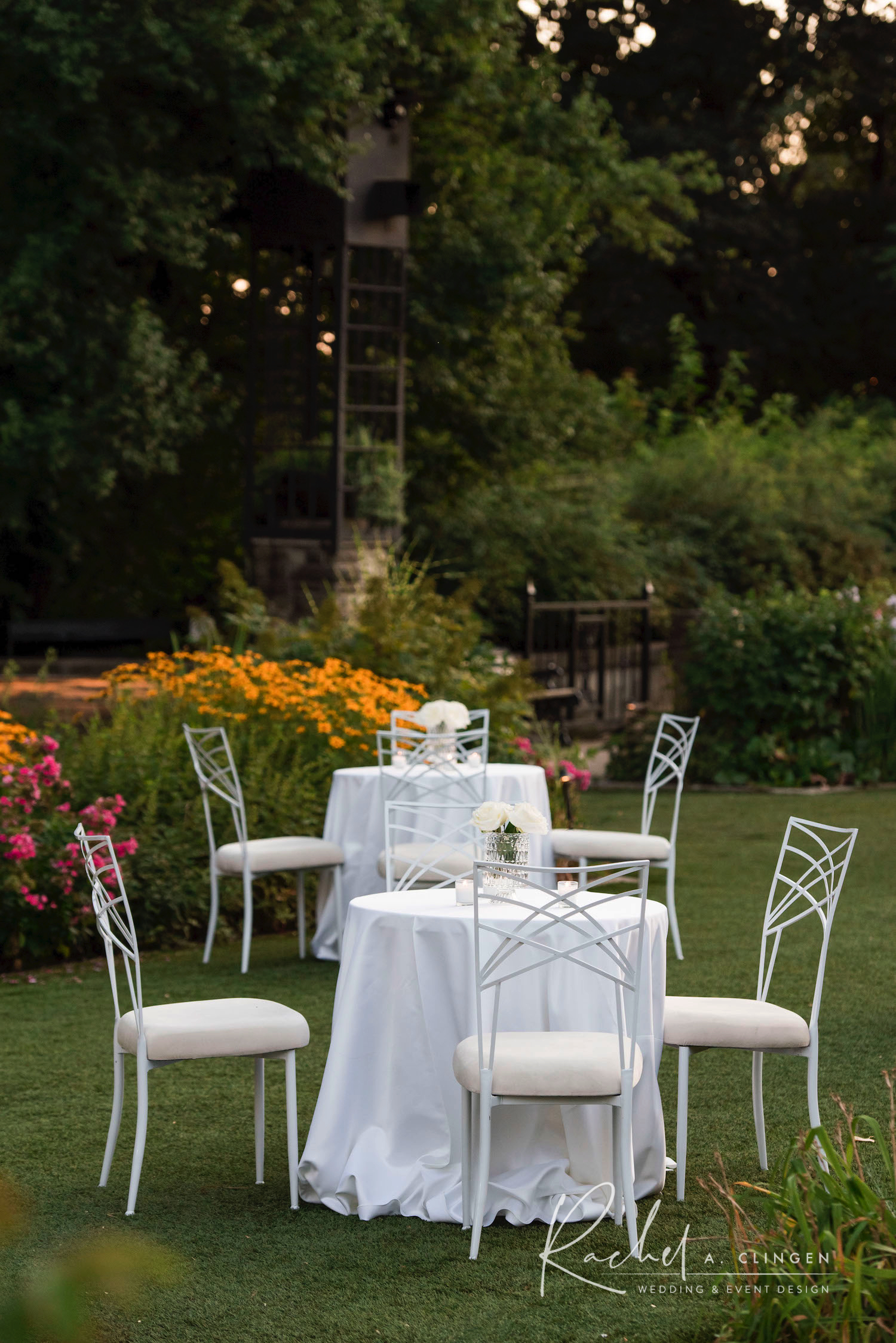 casa loma cocktail area garden wedding