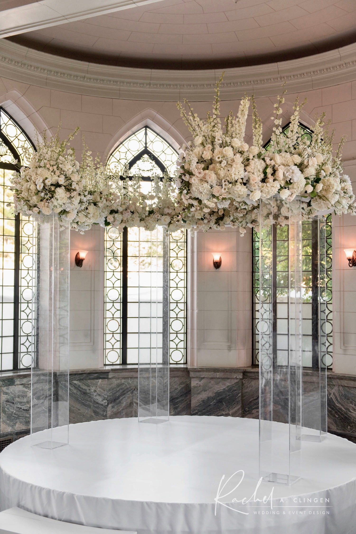 flower arch luxury wedding decor