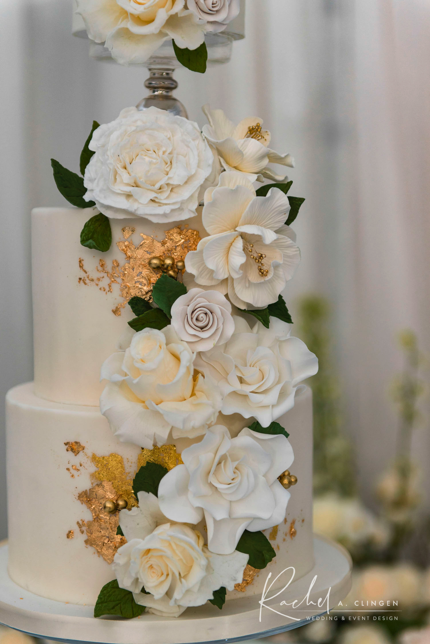 white luxury wedding cake toronto