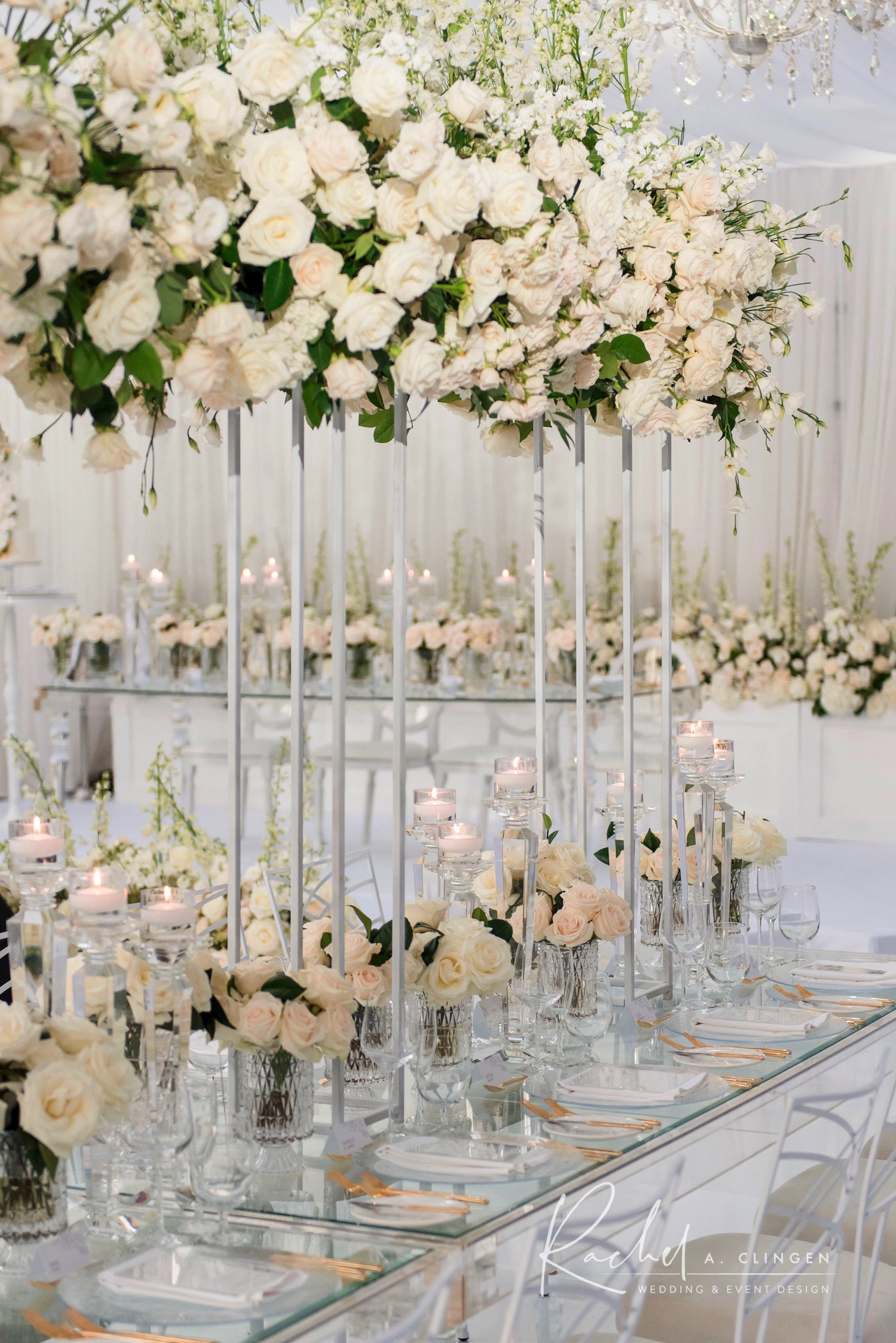 white luxury wedding flowers centrepieces toronto