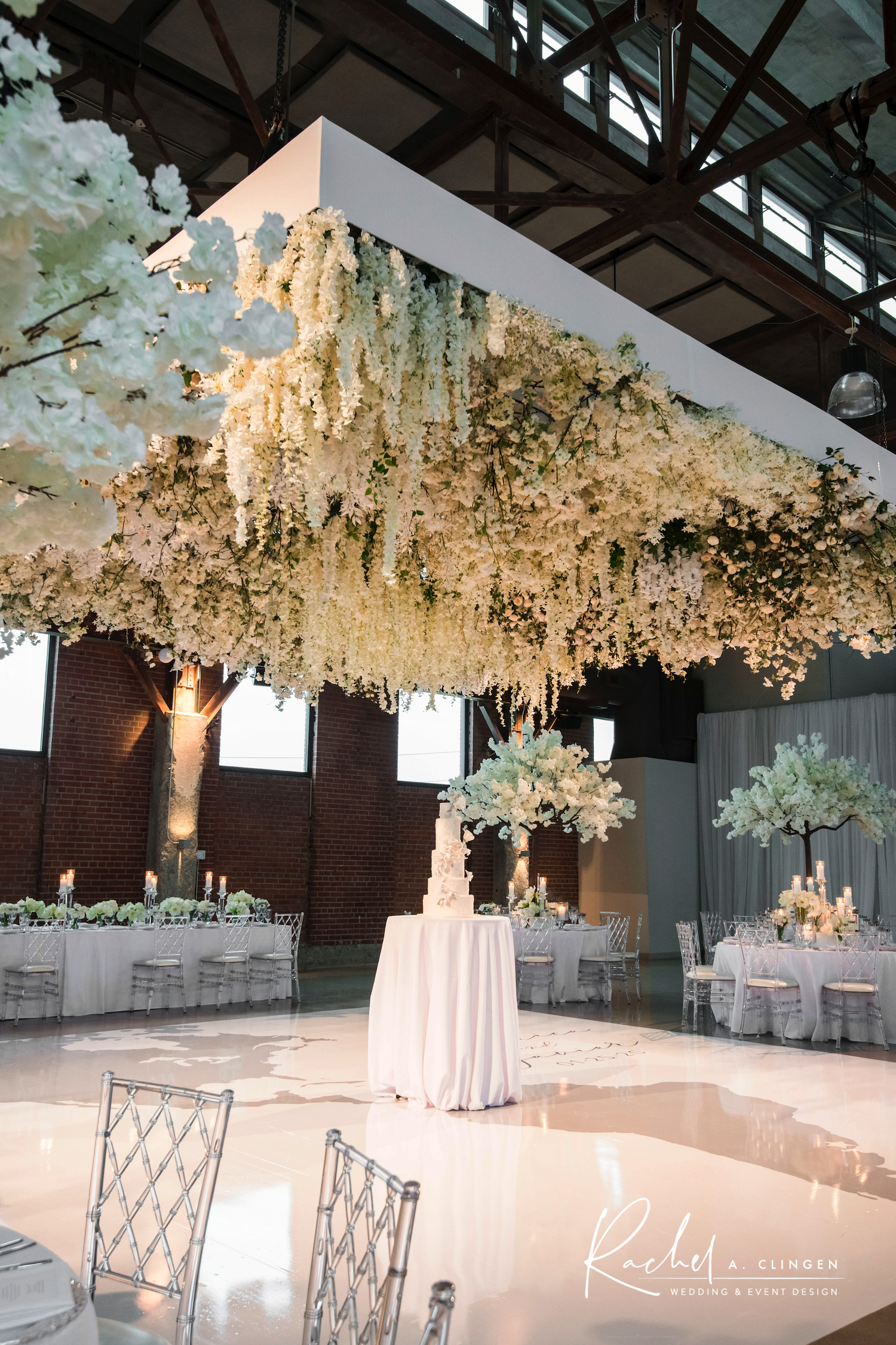 hanging flowers wedding decor