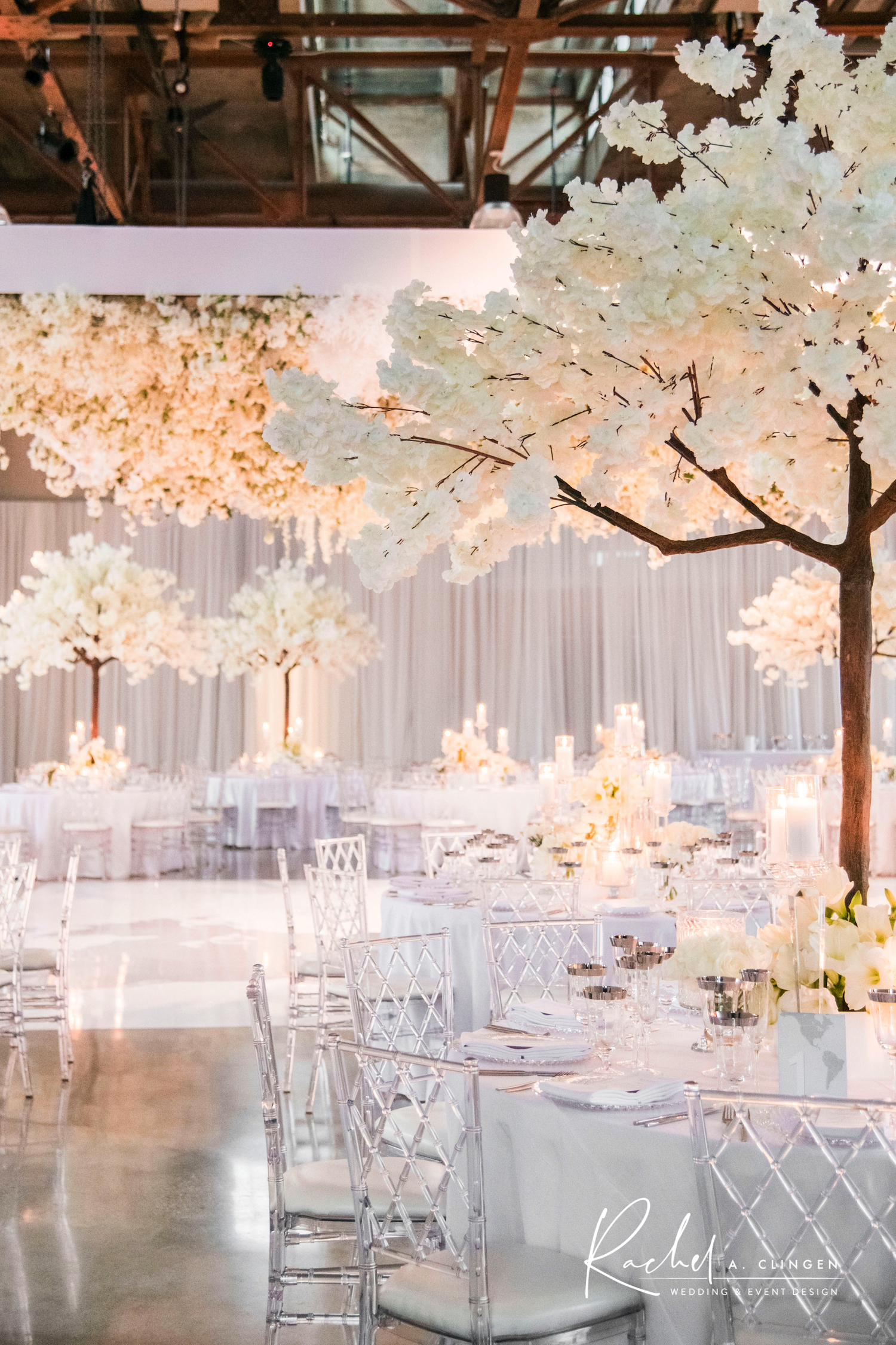 white wedding winter decor flowers toronto