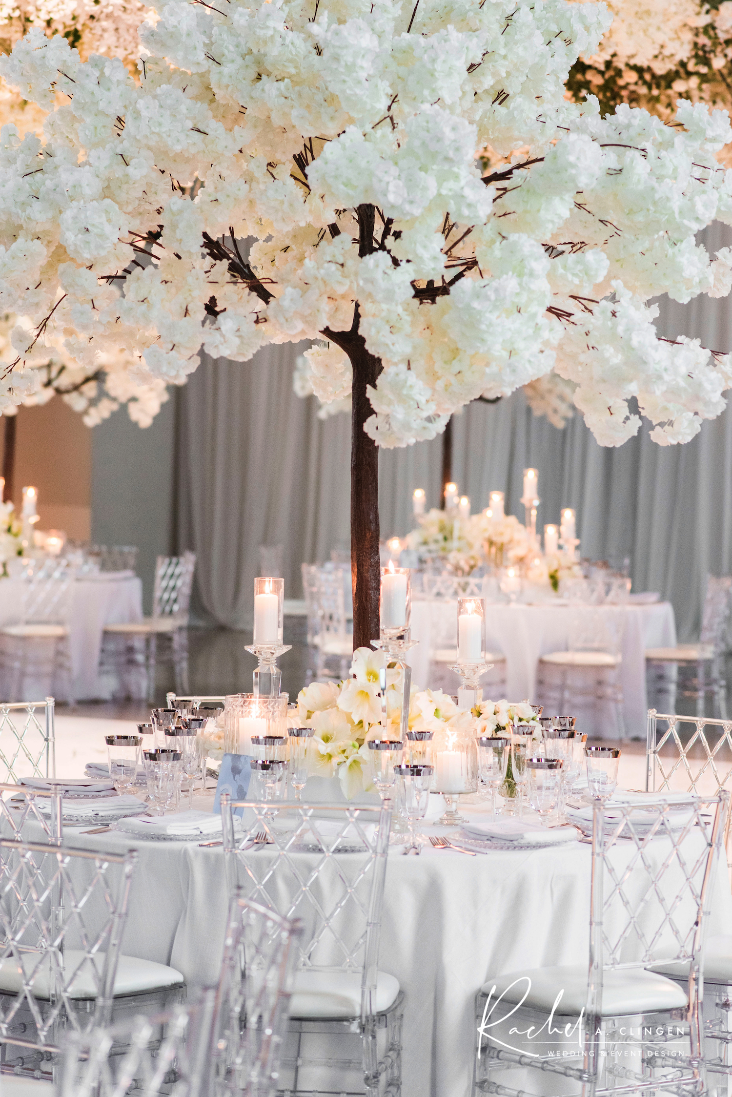 white winter wedding trees the symes