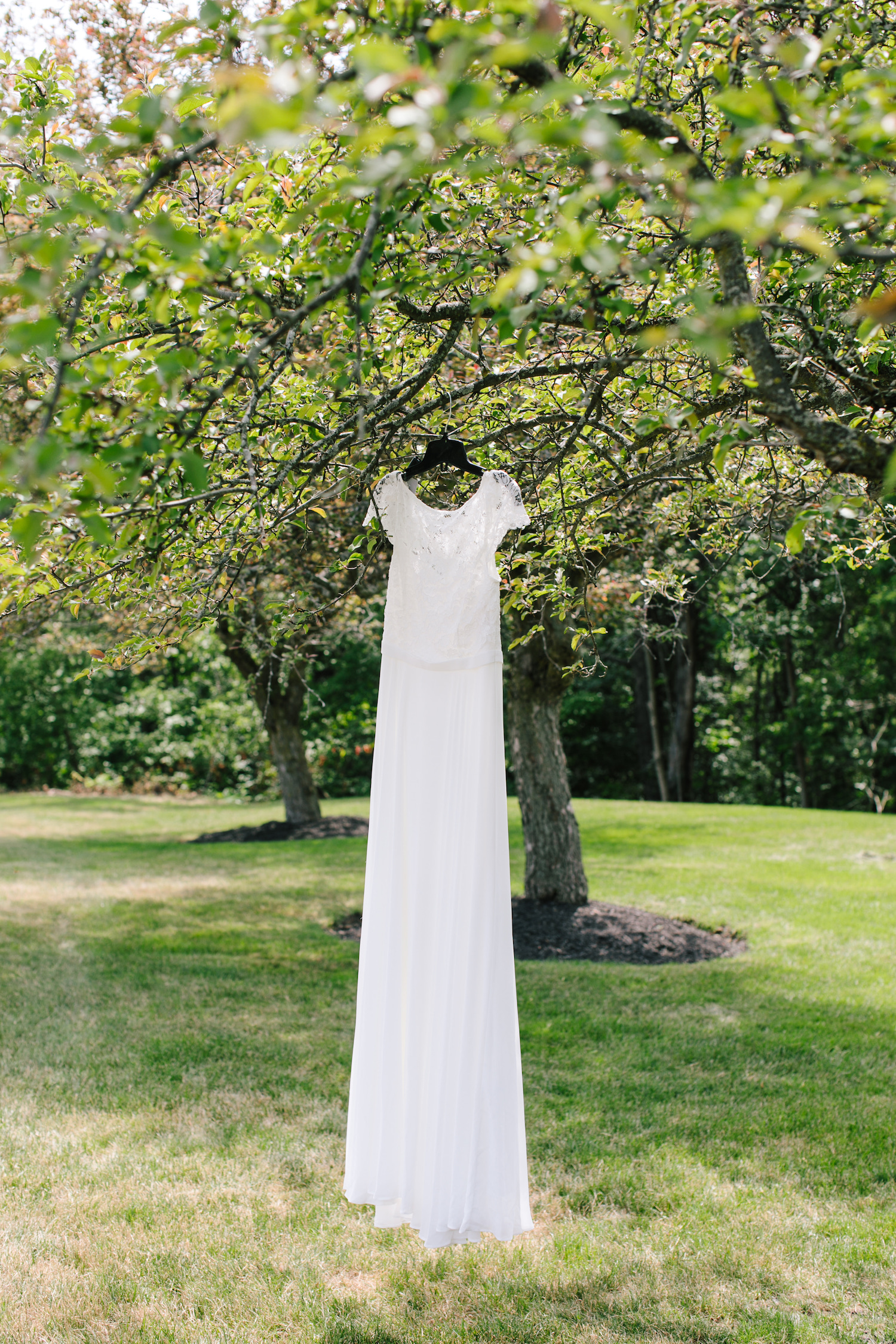 backyard wedding gown