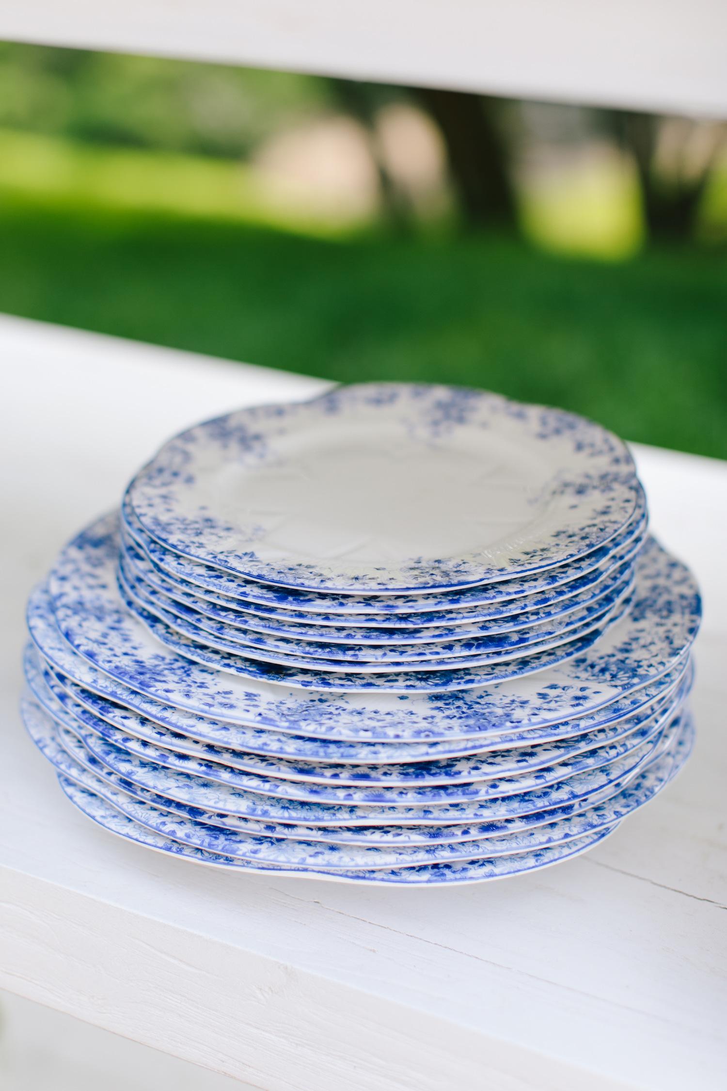 blue white wedding inspo