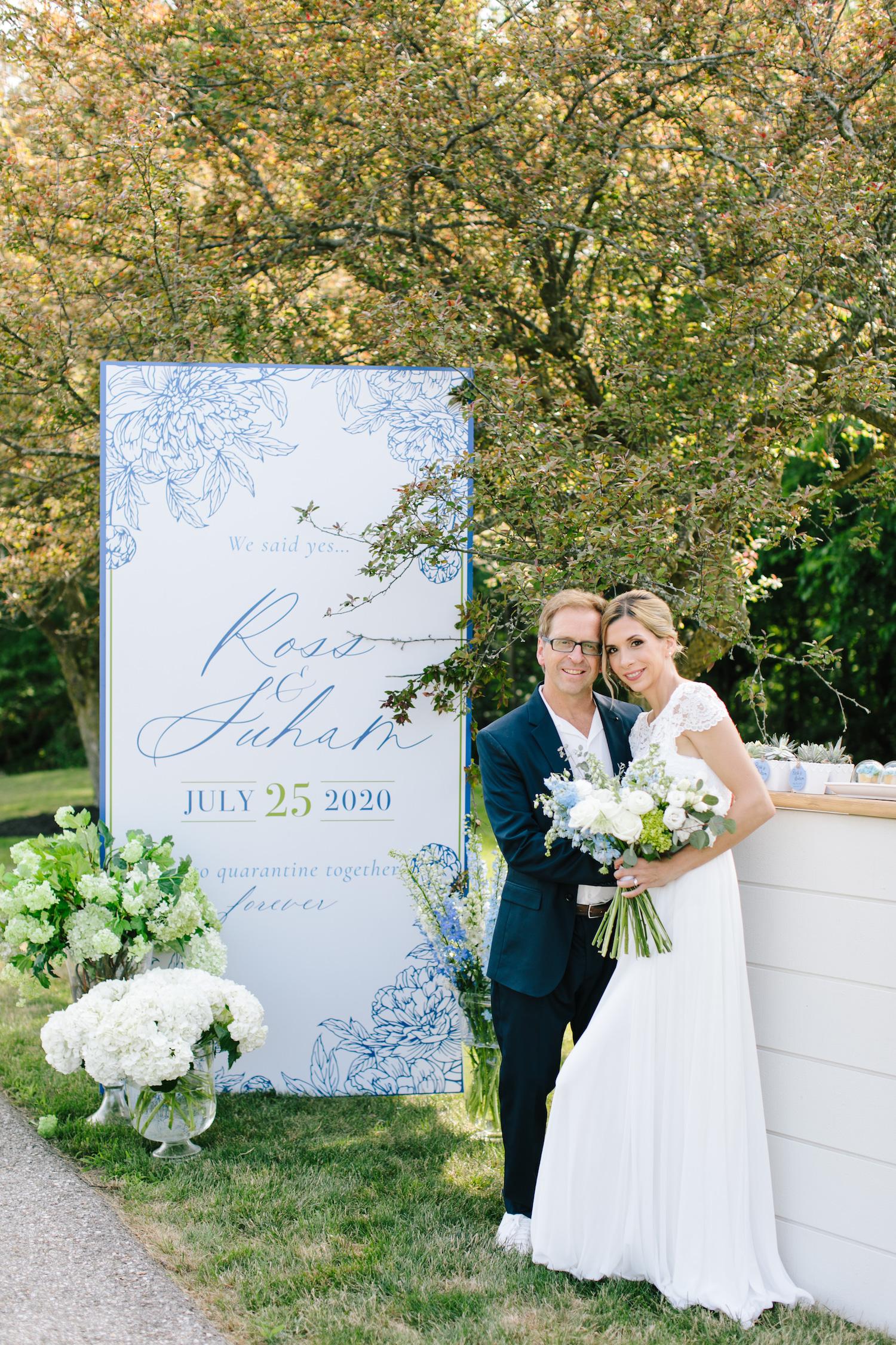 covid drive through wedding