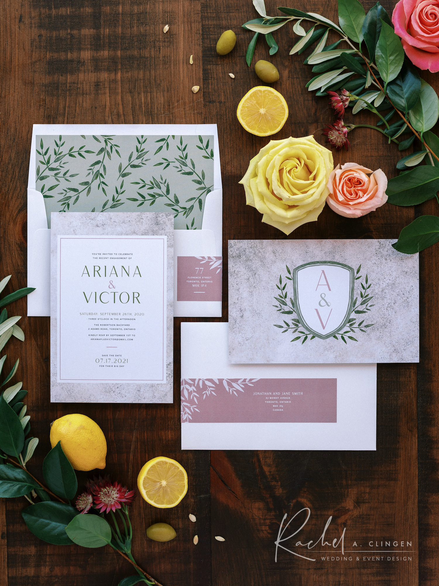 dinner party stationery 1