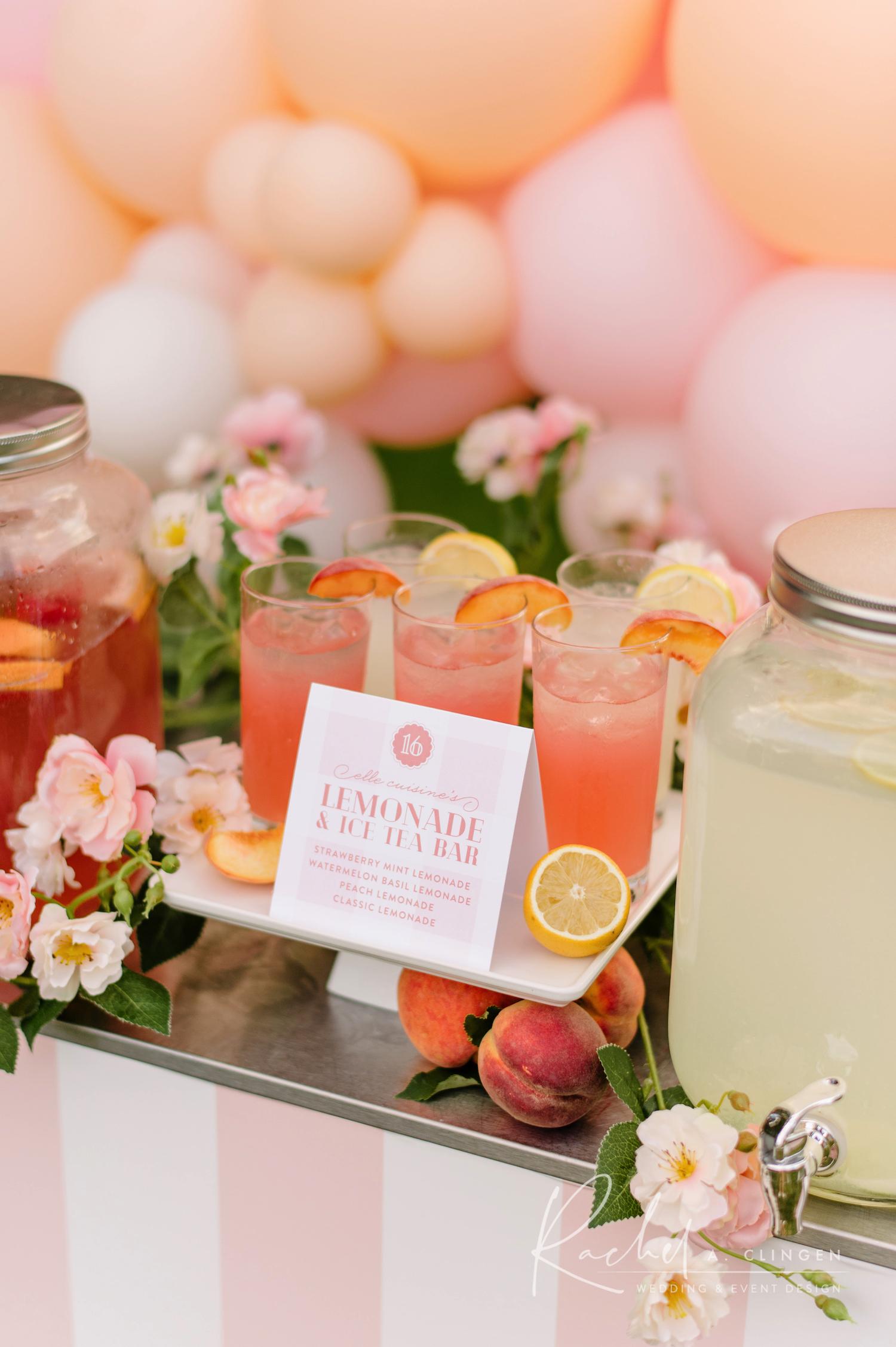 drinks peach lemonade