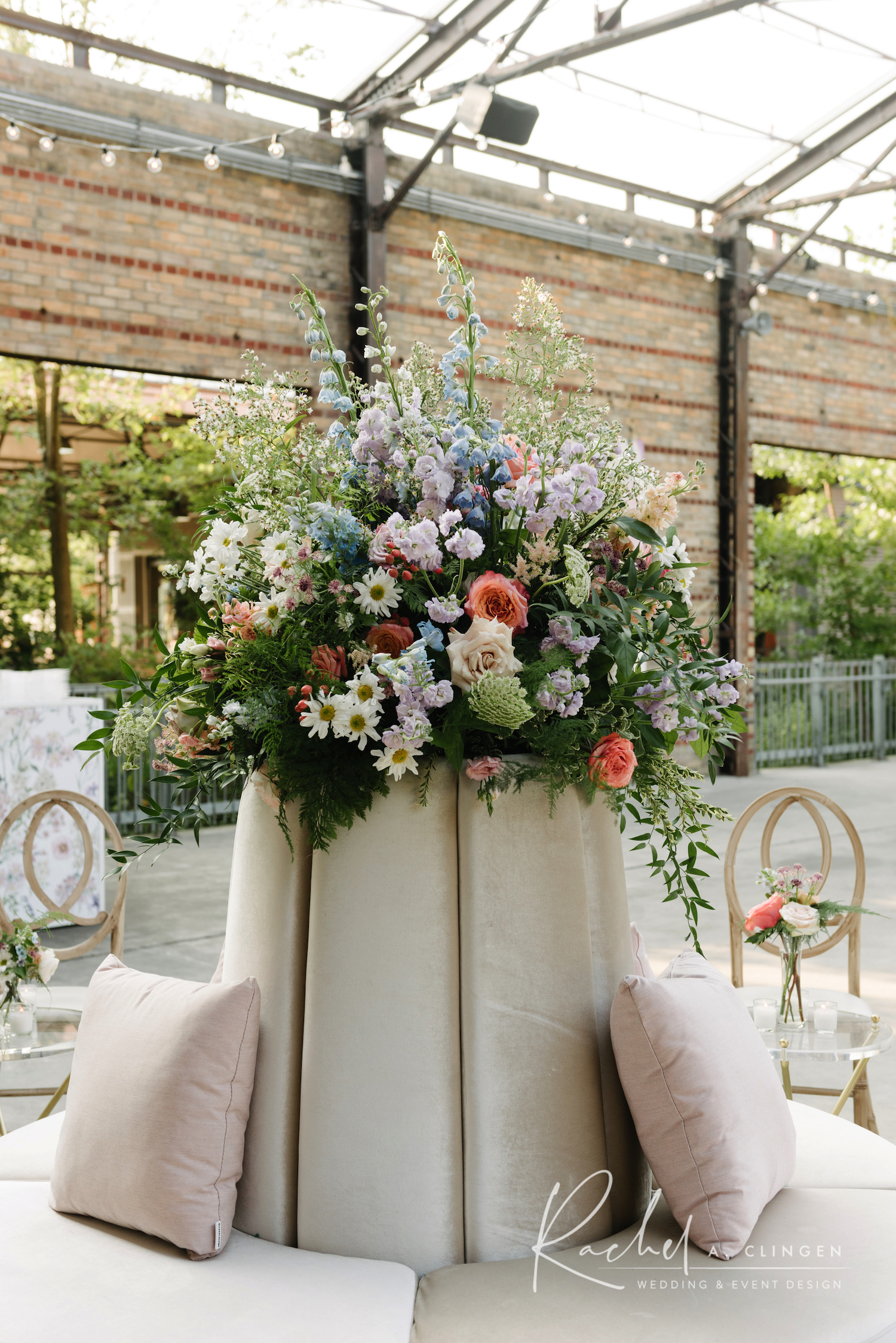 evergreen brickworks wedding flowers