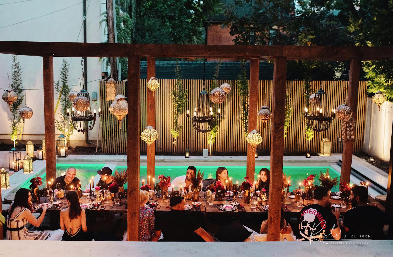 moraccan modern dinner party toronto rachel a clingen