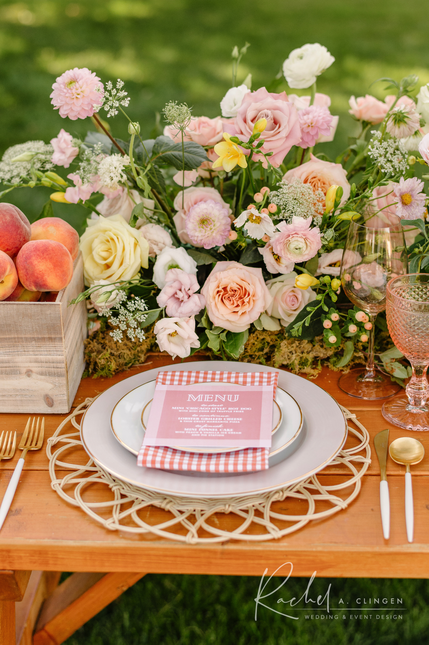 picnic party birthday place setting