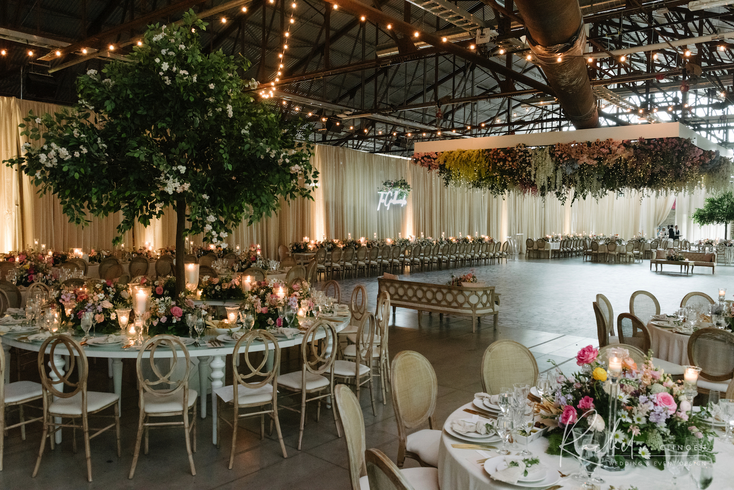 rachel a clingen wedding decor toronto hanging flowers