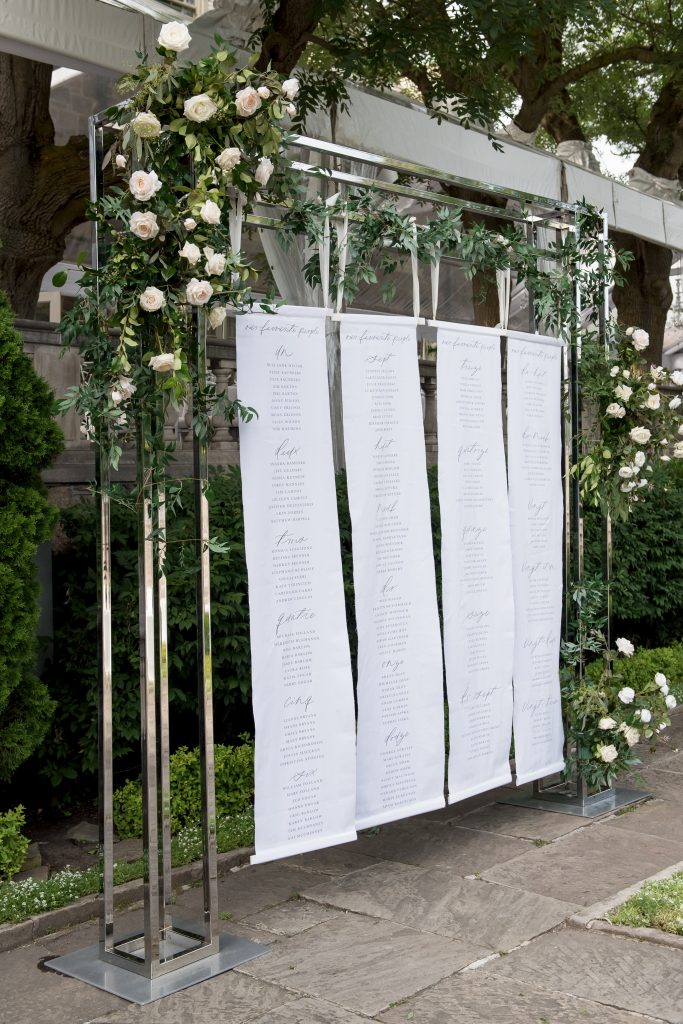 seating chart ideas wedding design