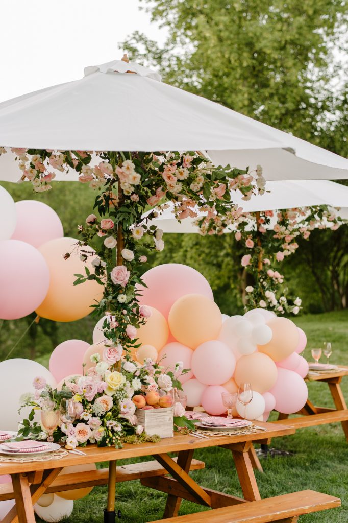 sweet 16 picnic party design decor toronto