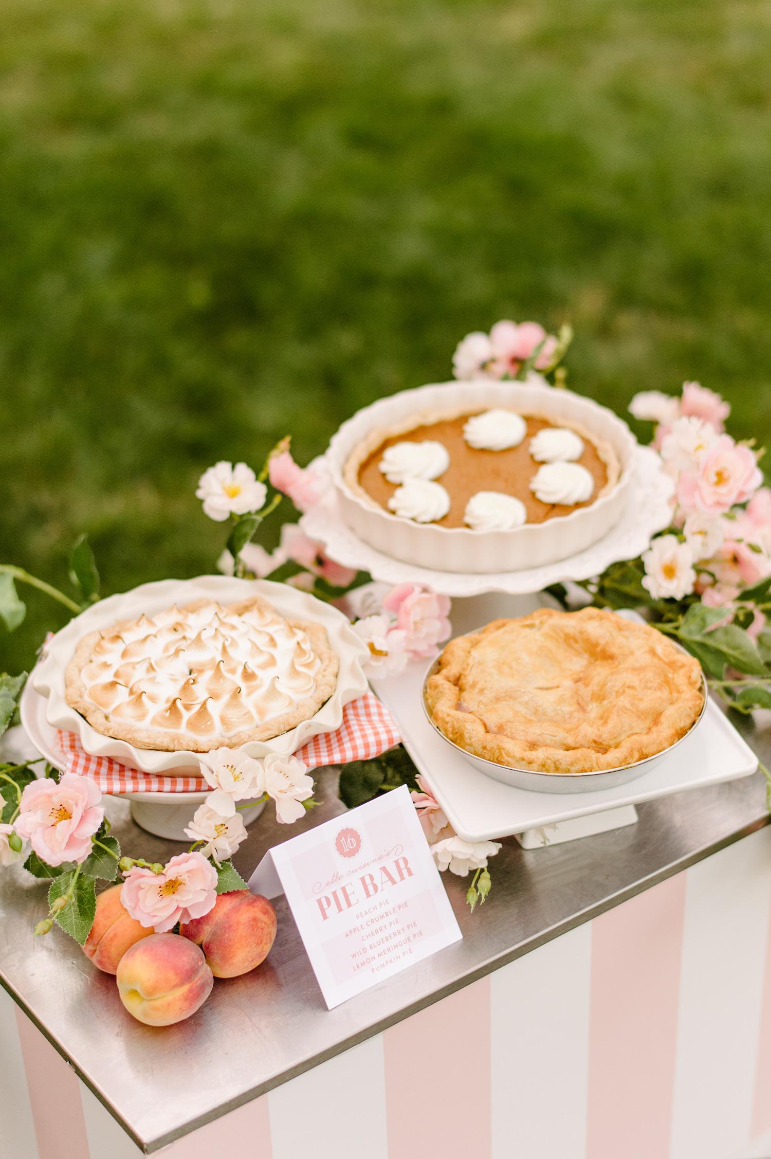 sweet 16 pie station