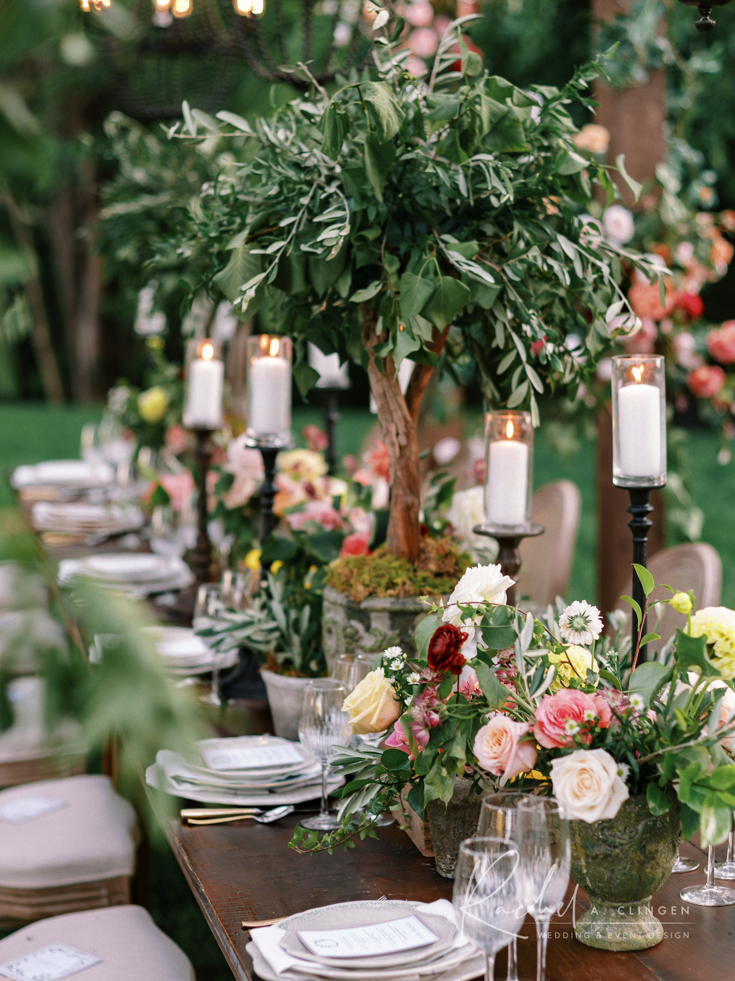 tuscany flowers decor party design