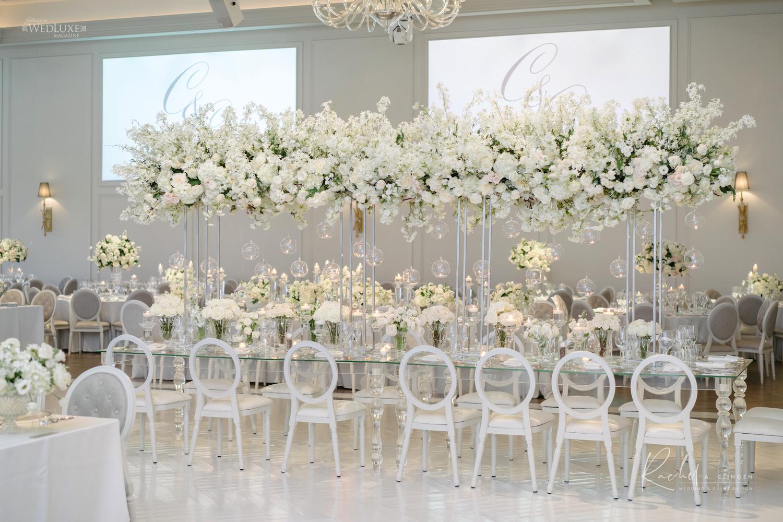 luxury white wedding flowers toronto