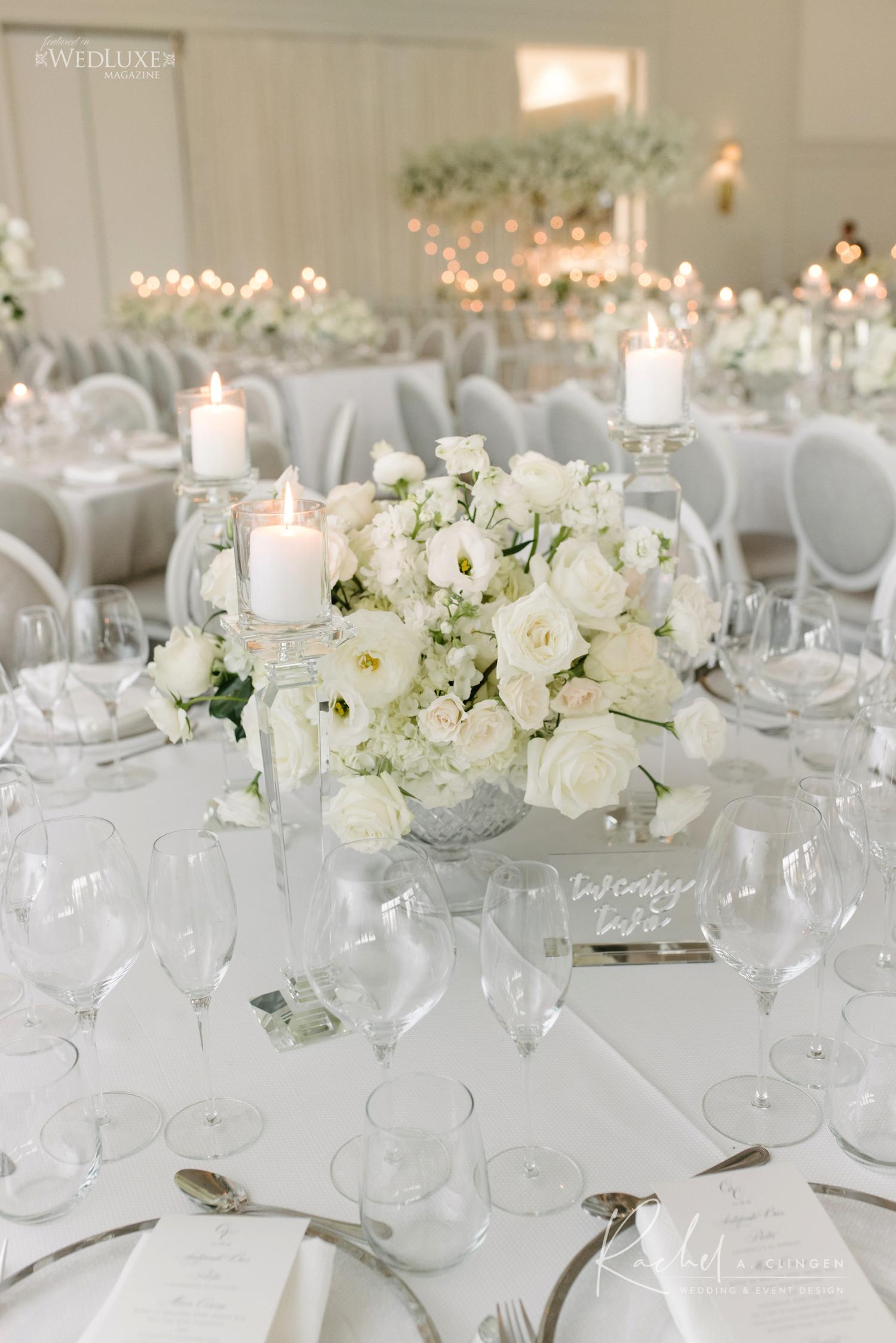 white flower centrepiece