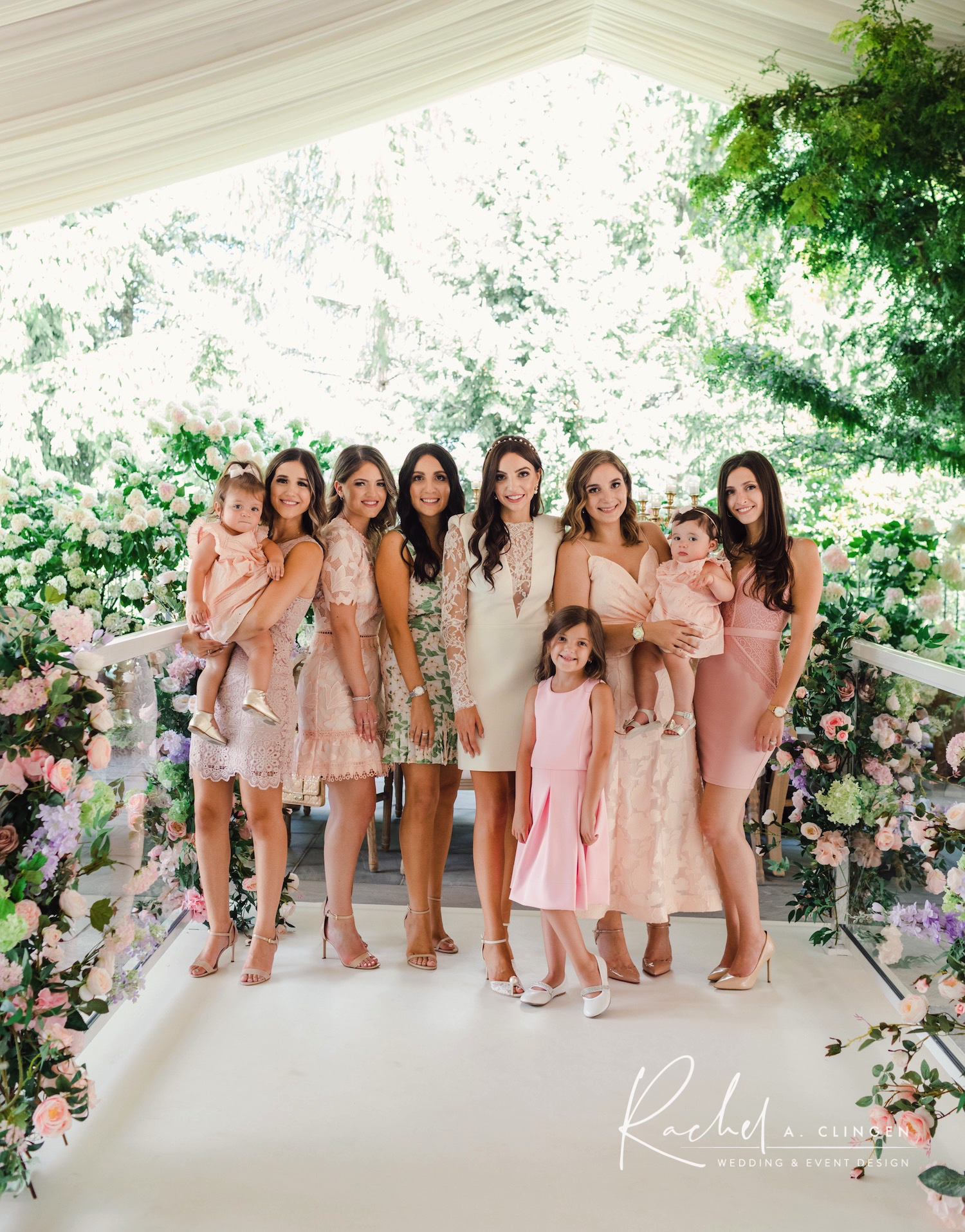 bridal shower bridesmaids flowers