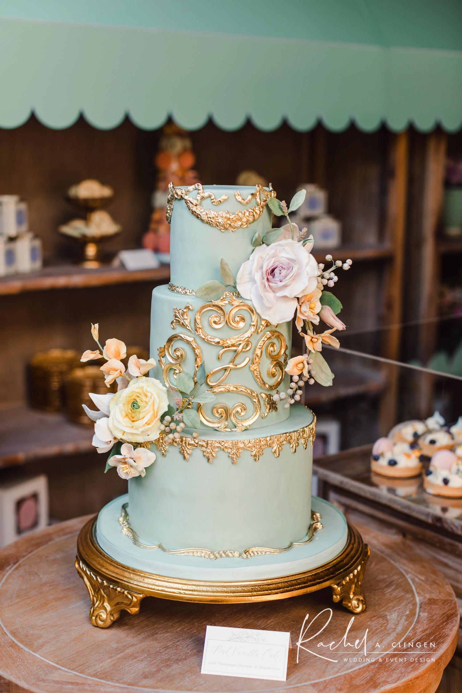 bridal shower cake french bakery