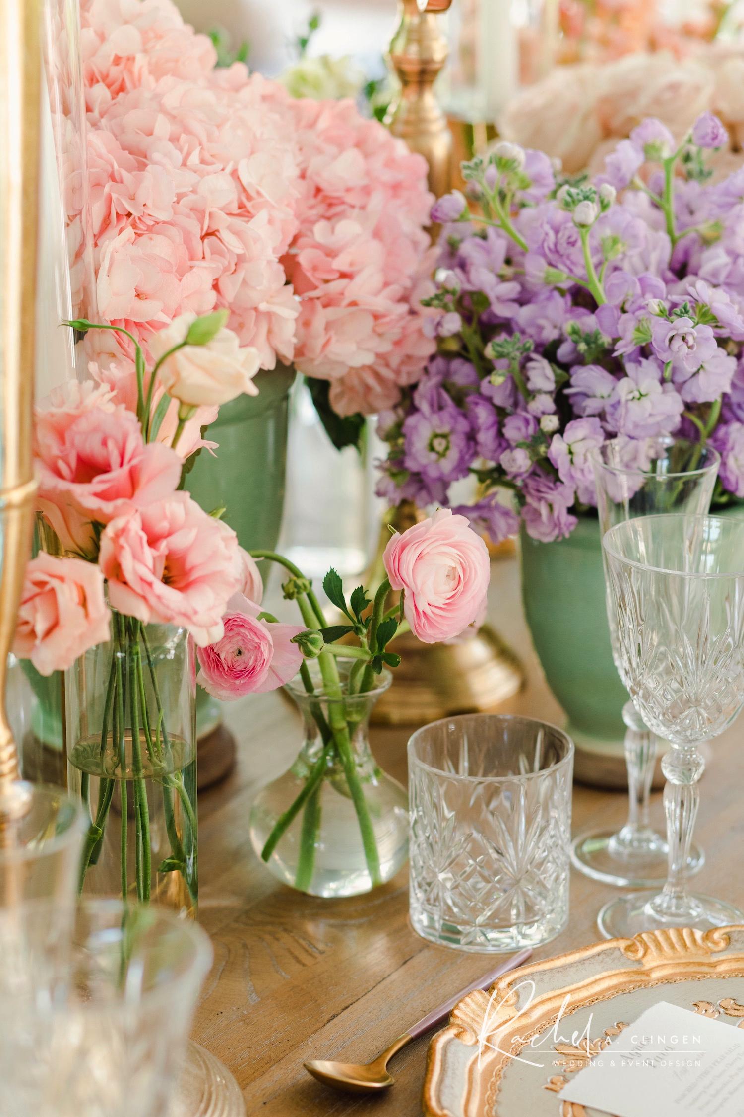 luxury bridal shower centrepieces