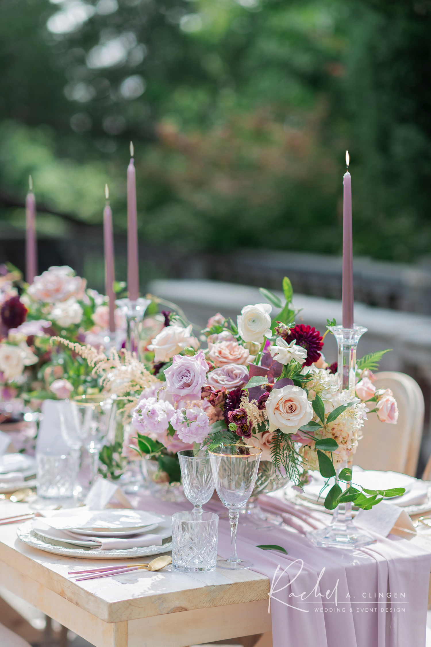 mauve dusty pink wedding flowers