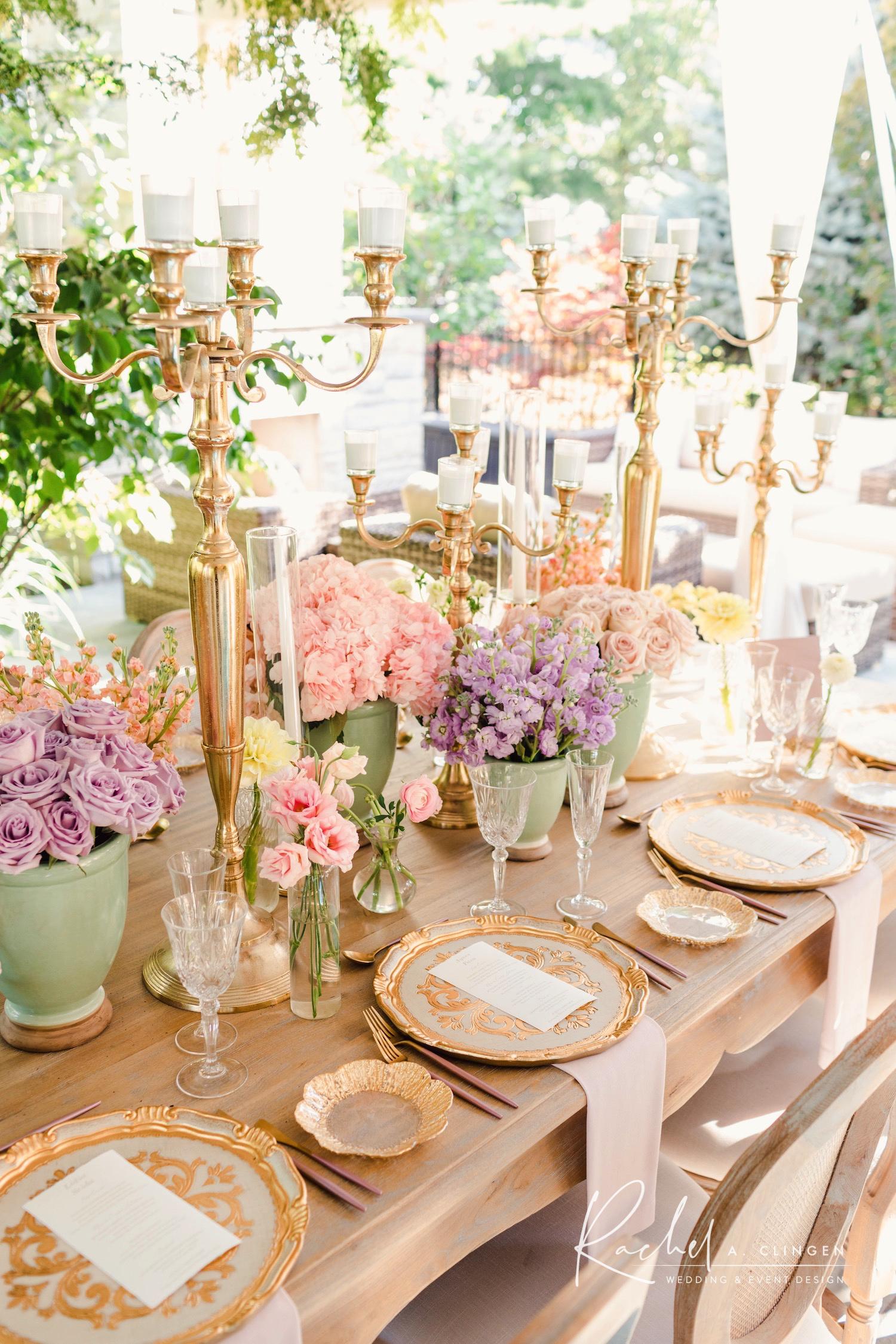 parisienne bridal shower flowers