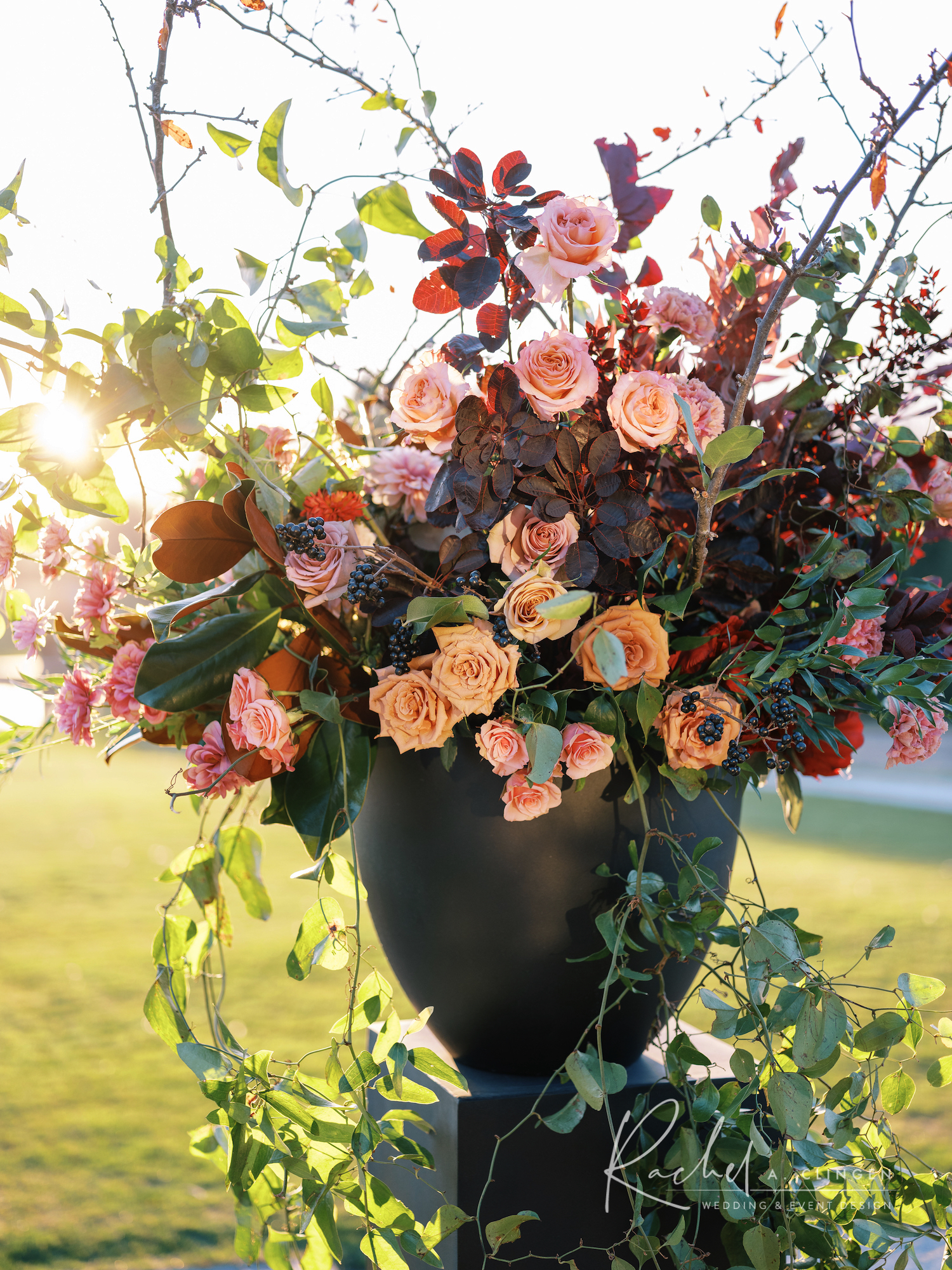 braestone autumn wedding flowers ceremony