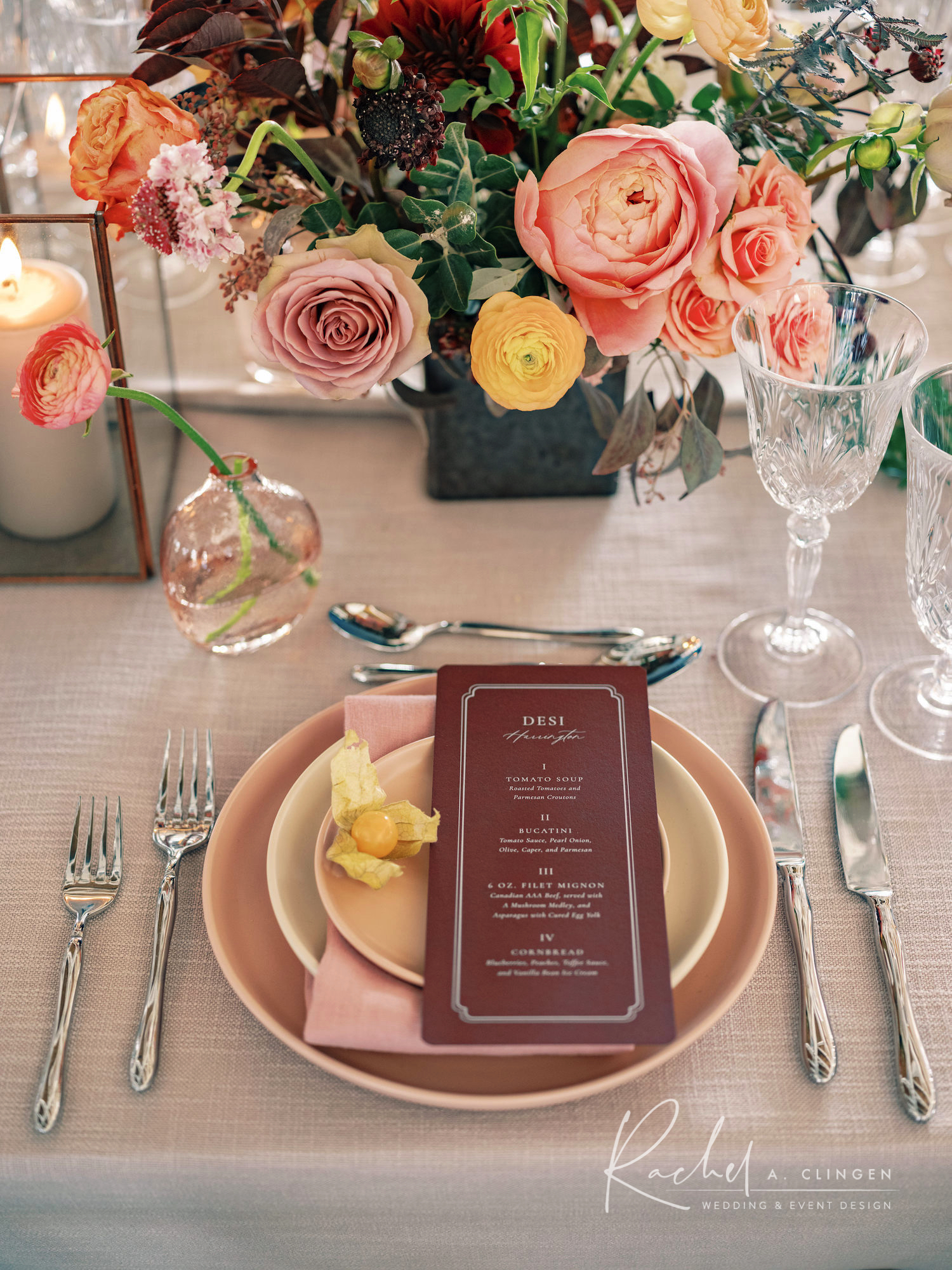 braestone weddings placesetting