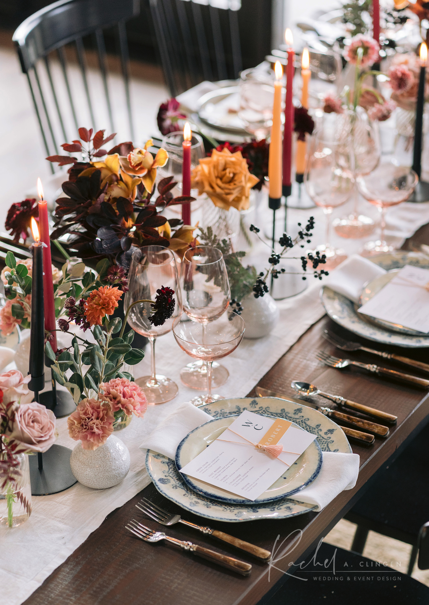 autumn modern tablescape imp