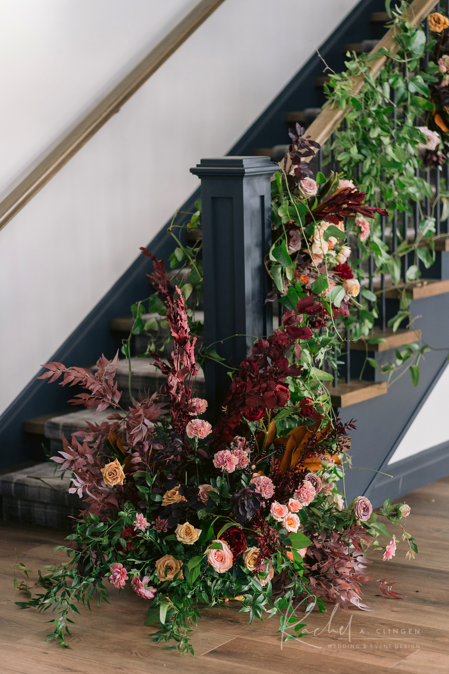 stair case flowers design imp