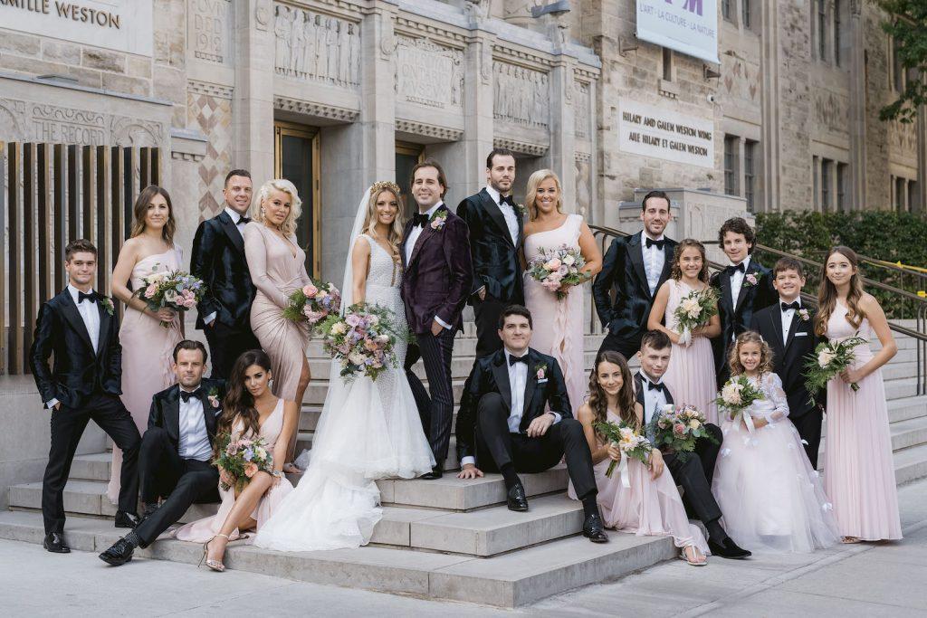 bridal party rom wedding toronto