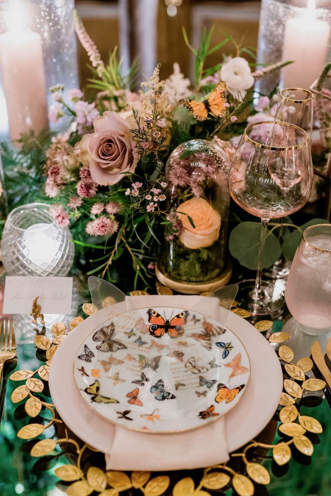 butterfly pplacesetting wedding