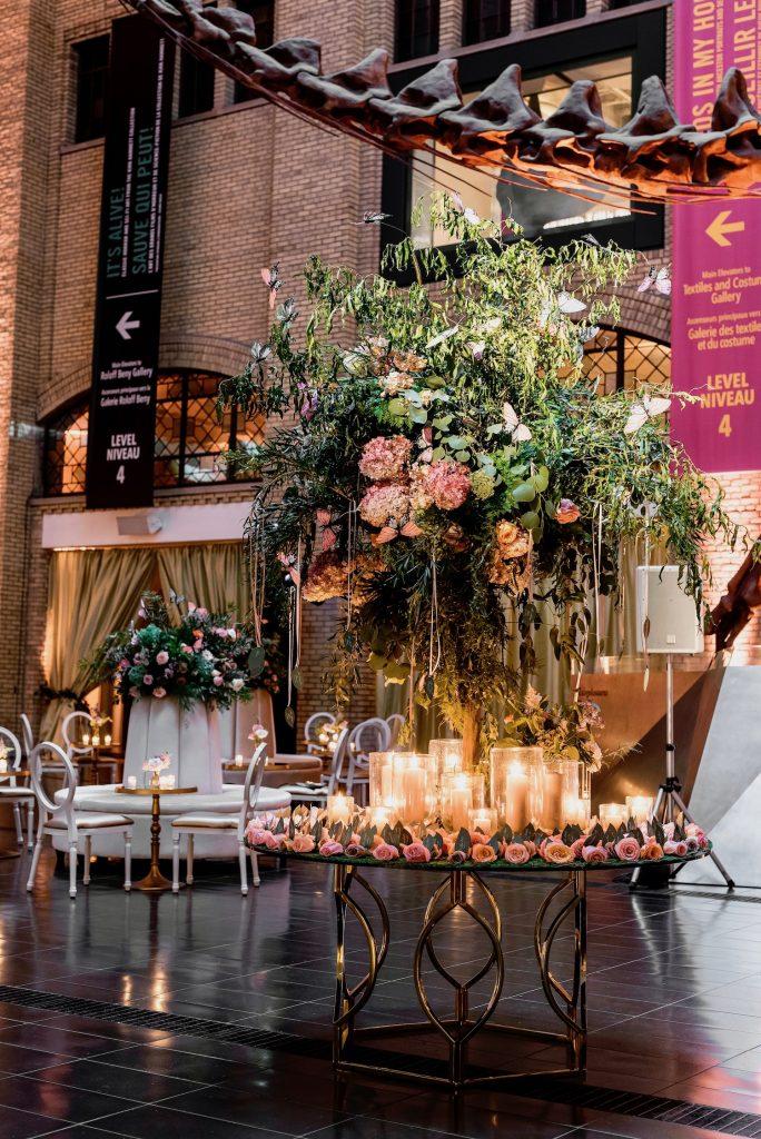 rom wedding cocktail area