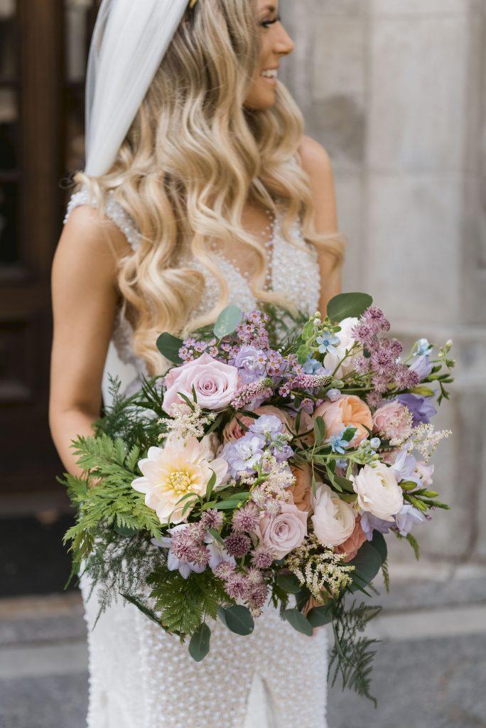 wedding flowers toronto bride